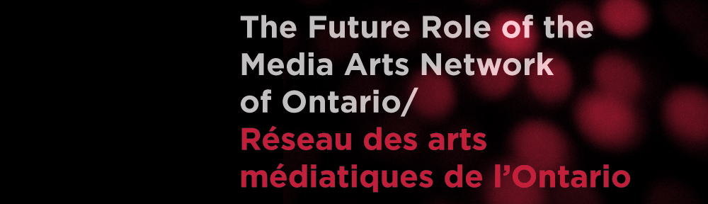 Discussion Document on the Future Role of the Media Arts Network of Ontario/Réseau des arts médiatiques de l'Ontario